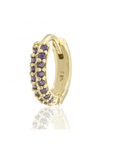 Pendientes violet zircon dorado
