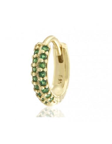 Pendientes green zircon dorado