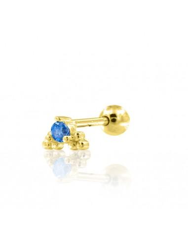 Minipendiente bleu dorado