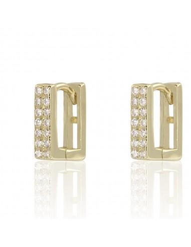 Pendientes rectangular shine dorado