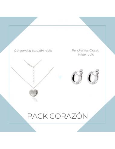 Pack Corazón rodio