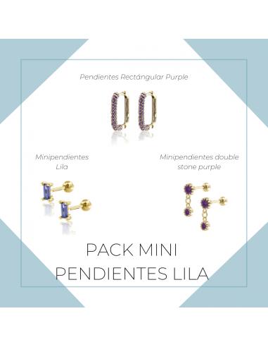 Pack Mini Pendientes lila