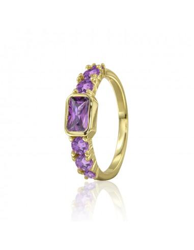 Anillo violet stone