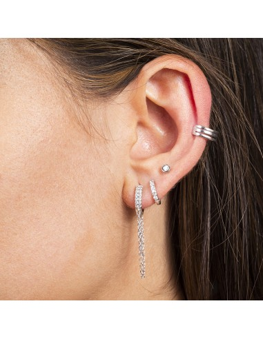 Ear cuff triple aro rodio