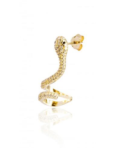 Ear cuff serpent dorado