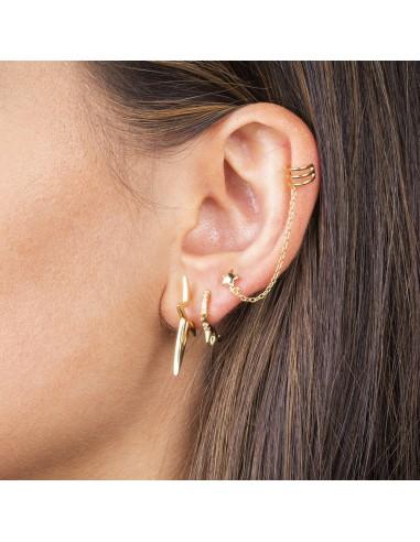 Ear cuff mini star chain dorado