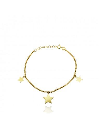 Pulsera star ball dorado