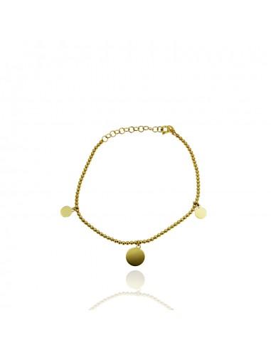Pulsera coin balls dorado