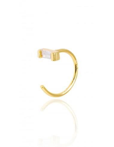 Pendientes mini stone dorado