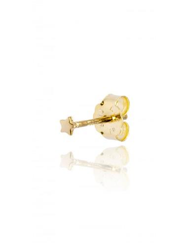 Minipendiente Estrella lisa Dorado