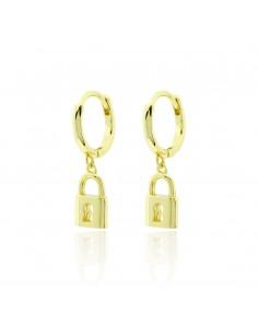 Pendientes lock dorado