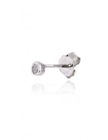 Minipendiente Stone white Rodio