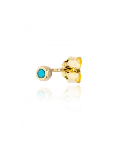 Minipendiente Stone turquoise Dorado
