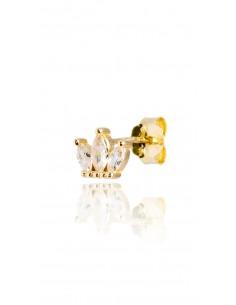 Pendiente Crown Dorado