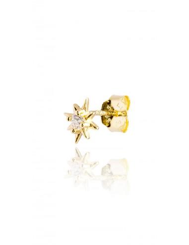 Minipendiente Estrella polar Dorado