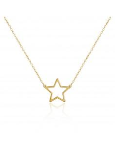 Gargantilla stella dorado