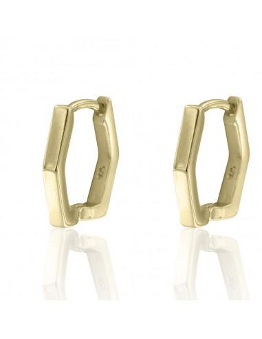 Pendientes hexagonal classic dorado