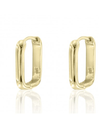 Pendientes rectangular classic dorado